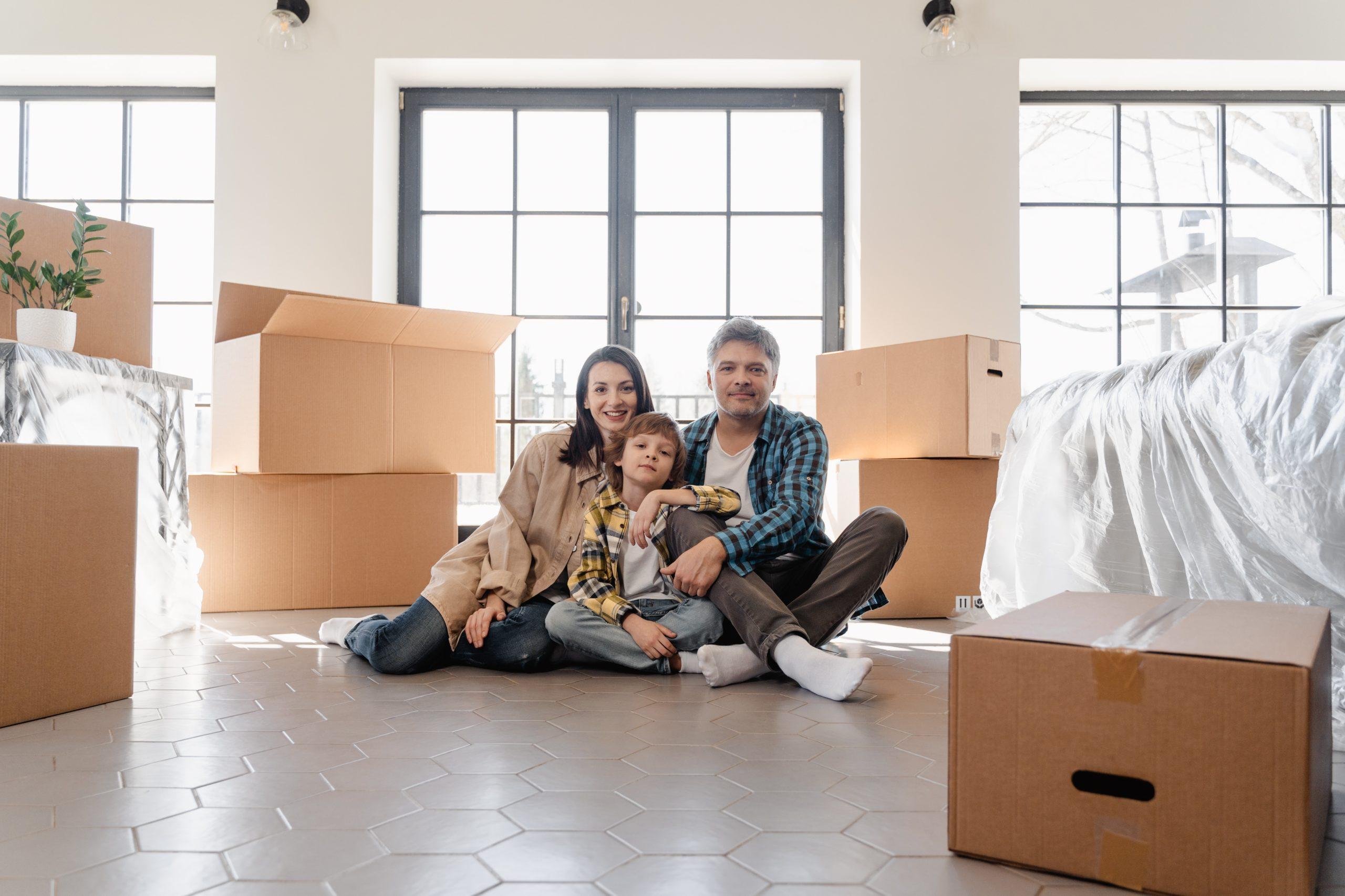 famille déménage